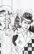 Image: Steed and Mrs. Peel #3 (15-copy Johnson B&W incentive cover) - Boom! Studios