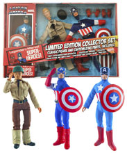 Image: Marvel Captain America Retro Action Figure Set  (8-inch) -