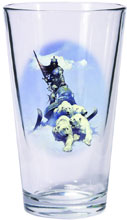 Image: Frazetta Warriors & Women Pint Glass Set: Silver Warrior & The Huntress  - Dark Horse Comics