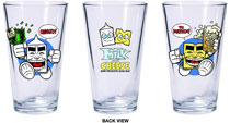 Image: Milk & Cheese Boxed Pint Glass Set  - Dark Horse Comics