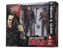 Image: Walking Dead Action Figure 2-Pack: Negan & Glenn  (color version) - Skybound Entertainment