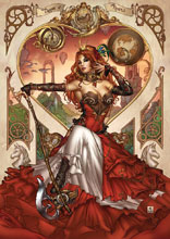 Image: Grimm Fairy Tales Steampunk: Alice in Wonderland  (cover C - Krome)  [2016] - Zenescope Entertainment Inc