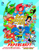 Image: DC Super Heroes and Pets Papercraft SC  - Little Brown Book For Young Re