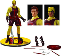 Image: One-12 Collective Marvel Action Figure: Daredevil - Classic Variant  - Mezco Toys