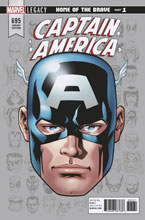 Image: Captain America #695 (Legacy) (variant Legacy Headshot cover - McKone)  [2017] - Marvel Comics
