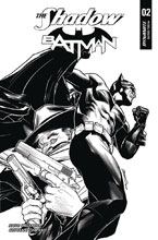 Image: Shadow / Batman #2 (cover I incentive - Peterson B&W) (40-copy)  [2017] - Dynamite