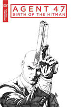 Image: Agent 47: Birth of the Hitman #2 (cover C incentive - B&W) (10-copy)  [2017] - Dynamite