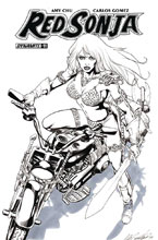 Image: Red Sonja Vol. 04 #11 (cover F incentive - Santucci B&W) (10-copy)  [2017] - Dynamite