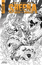 Image: Sheena Queen of the Jungle #3 (cover F incentive - Buchemi B&W) (20-copy) - Dynamite