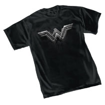 Image: Justice League T-Shirt: Wonder Woman Symbol  (L) - Graphitti Designs