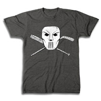 Image: TMNT T-Shirt: Casey Jones Mask & Cross Bones [Charcoal Heather]  (XL) - Freeze Cmi