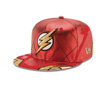 Image: Justice League 5950 Fitted Cap: Flash  (7 5/8) - New Era Cap Co