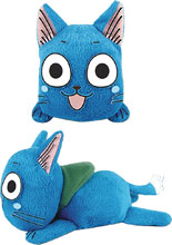 Image: Fairy Tail Plush: Happy Lie Prone Posture  (4-inch) - Great Eastern Entertainment