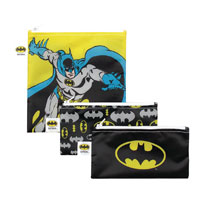 Image: DC Comics Batman 3-Pack Reusable Snack Bag Set  - Bumkins Finer Baby Products
