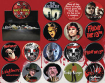 Image: New Line Horror Movies 144-Piece Button Assortment  - Ata Boy