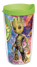 Image: Marvel Tumbler: Guardians of the Galaxy2 Baby Groot  (w/Lid) (16-ounce) - Tervis Tumbler Co.