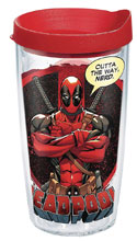 Image: Marvel Tumbler: Deadpool  (w/Lid) (16-ounce) - Tervis Tumbler Co.