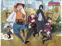 Image: Boruto Movie Group and City Sublimation Throw Blanket  - Great Eastern Entertainment