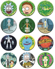 Image: Rick and Morty 1-1/4-inch 144 Piece Button Assortment  - Nmr Distribution America