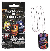 Image: Five Nights at Freddy's Dogtag Necklaces 36-Piece Blind Mystery Box Display  - Ucc Distributing