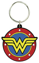 Image: DC Comics Soft Touch PVC Keyring: Wonder Woman Logo  - Monogram Products