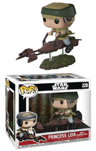 Image: Pop! Star Wars Deluxe Vinyl Figure: Leia on Speeder Bike  - Funko