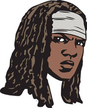 Image: Walking Dead Pin: Michonne Face  - Image Comics