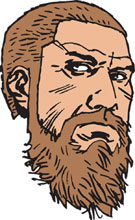 Image: Walking Dead Pin: Old Rick Face  - Image Comics