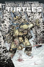 Image: Teenage Mutant Ninja Turtles Macroseries: Leonardo #3 (cover A - Petersen) - IDW Publishing