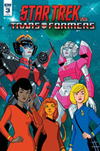 Image: Star Trek vs. Transformers #3 (incentive cover - Levens) (10-copy) - IDW Publishing