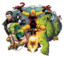 Image: Marvel Knights by Quesada Poster  - Marvel Comics