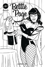 Image: Bettie Page Vol. 02 #1 (incentive cover - Williams B&W) (20-copy)  [2018] - Dynamite