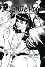 Image: Bettie Page Vol. 02 #1 (incentive cover - Ohta B&W) (40-copy)  [2018] - Dynamite
