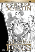 Image: George R. R. Martin's A Clash of Kings #16 (incentive cover - Miller B&W) (10-copy) - Dynamite