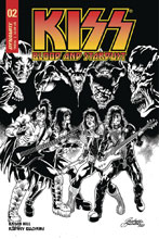 Image: Kiss: Blood and Stardust #2 (incentive cover - Buchemi B&W) (10-copy) - Dynamite