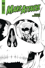 Image: Mars Attacks #2 (incentive cover - Coleman B&W) (20-copy) - Dynamite