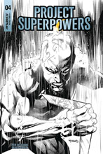 Image: Project Superpowers: Chapter Three #4 (incentive cover - Segovia B&W) (20-copy) - Dynamite
