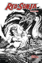 Image: Red Sonja Vol. 04 #23 (incentive cover - Mandrake B&W) (30-copy)  [2018] - Dynamite