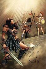 Image: Xena: Warrior Princess Vol. 02 #10 (incentive cover - Davila virgin) (10-copy) - Dynamite