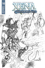 Image: Xena: Warrior Princess Vol. 02 #10 (incentive cover - Davila B&W) (25-copy) - Dynamite