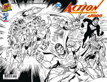 Image: Action Comics #1000 (variant DFE cover - wraparound B&W) (DFE CGC Graded) - Dynamic Forces