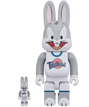 Image: Space Jam Bearbrick 2-Pack: Bugs Bunny 100 & 400  - Medicom Toy Corporation