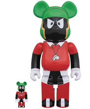 Image: Space Jam Bearbrick 2-Pack: Marvin the Martian 100 & 400  - Medicom Toy Corporation
