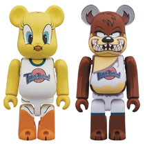 Image: Space Jam Bearbrick 2-Pack: Tweety & Tasmanian Devil 100  - Medicom Toy Corporation