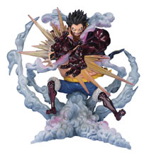 Image: One Piece Figuarts Zero Action Figure: Monkey D Luffy Gear 4 Leo Bazooka  - Tamashii Nations