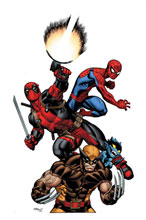 Image: Marvel Monograph: The Art of Ed McGuinness - Deadpool & His Amazing Friends SC  - Marvel Comics