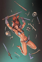 Image: Red Sonja #10 (variant cover - Linsner virgin) - Dynamite