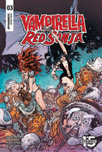 Image: Vampirella / Red Sonja #3 (cover C - Johnson & Spicer) - Dynamite