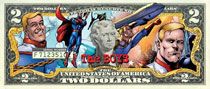 Image: Boys Collectible Homelander Two Dollar Bill  - Dynamite