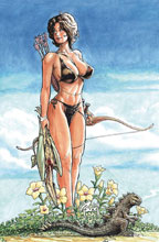 Image: Cavewoman: Barbarian Princess & Meriem  (cover D - Budd Root) - Amryl Entertainment